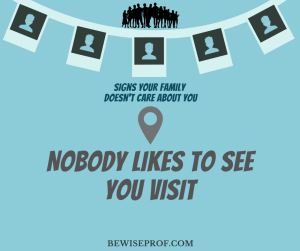 Nobody likes to see you visit
