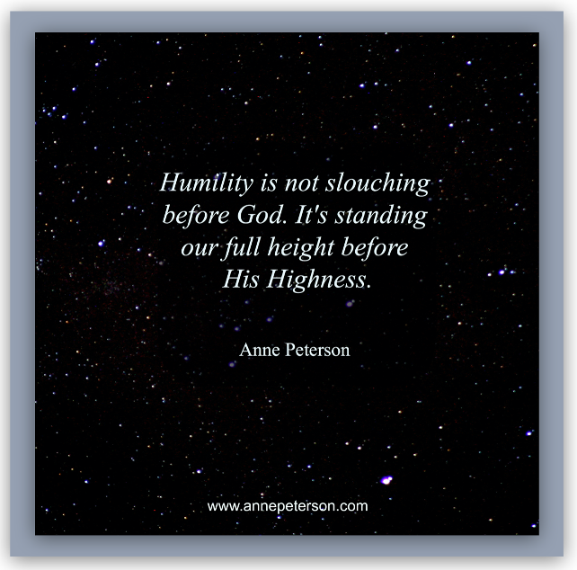graphic about humility by Anne Peterson