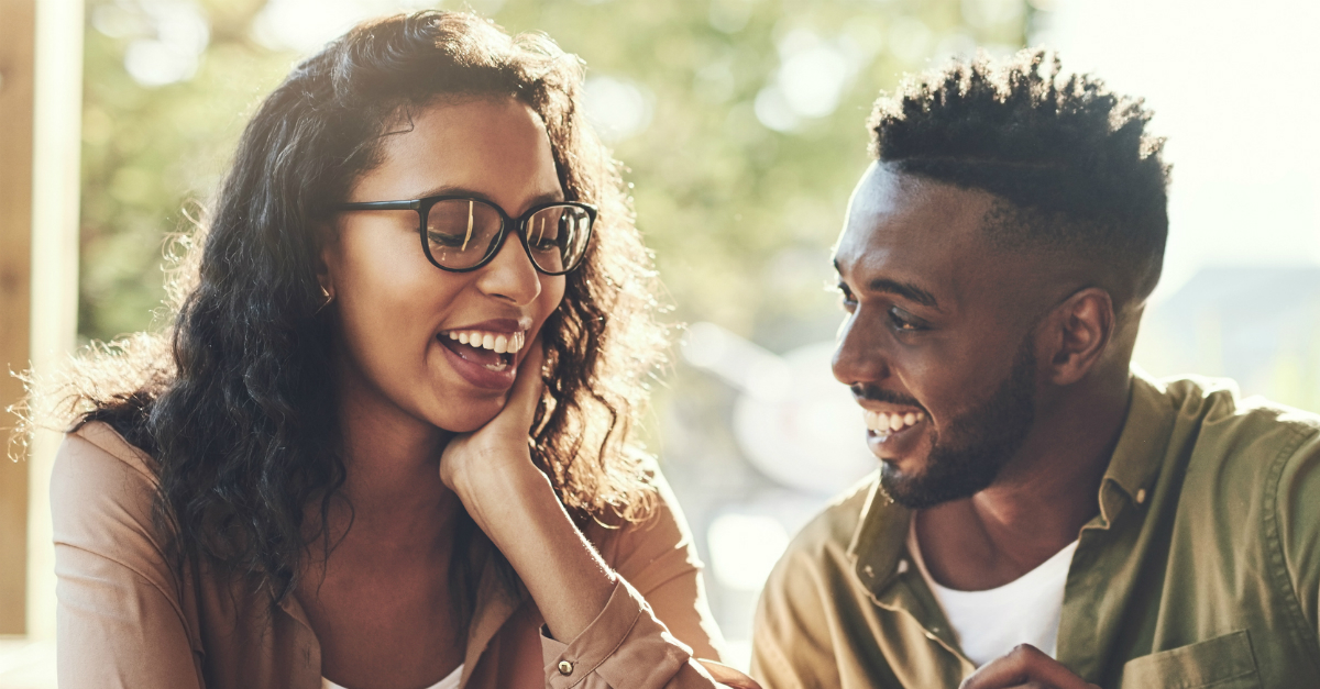couple out on a date laughing, scriptures guide dating decisions